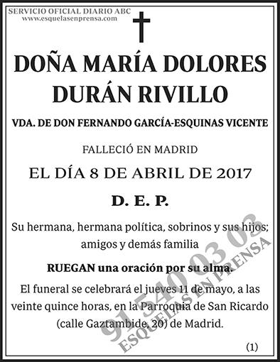 María Dolores Durán Rivillo